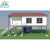 Luxury Prefab Light Steel Structure Villa With 3 Bedroom