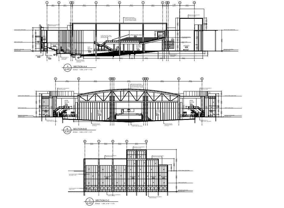 steel church building overall structure-5