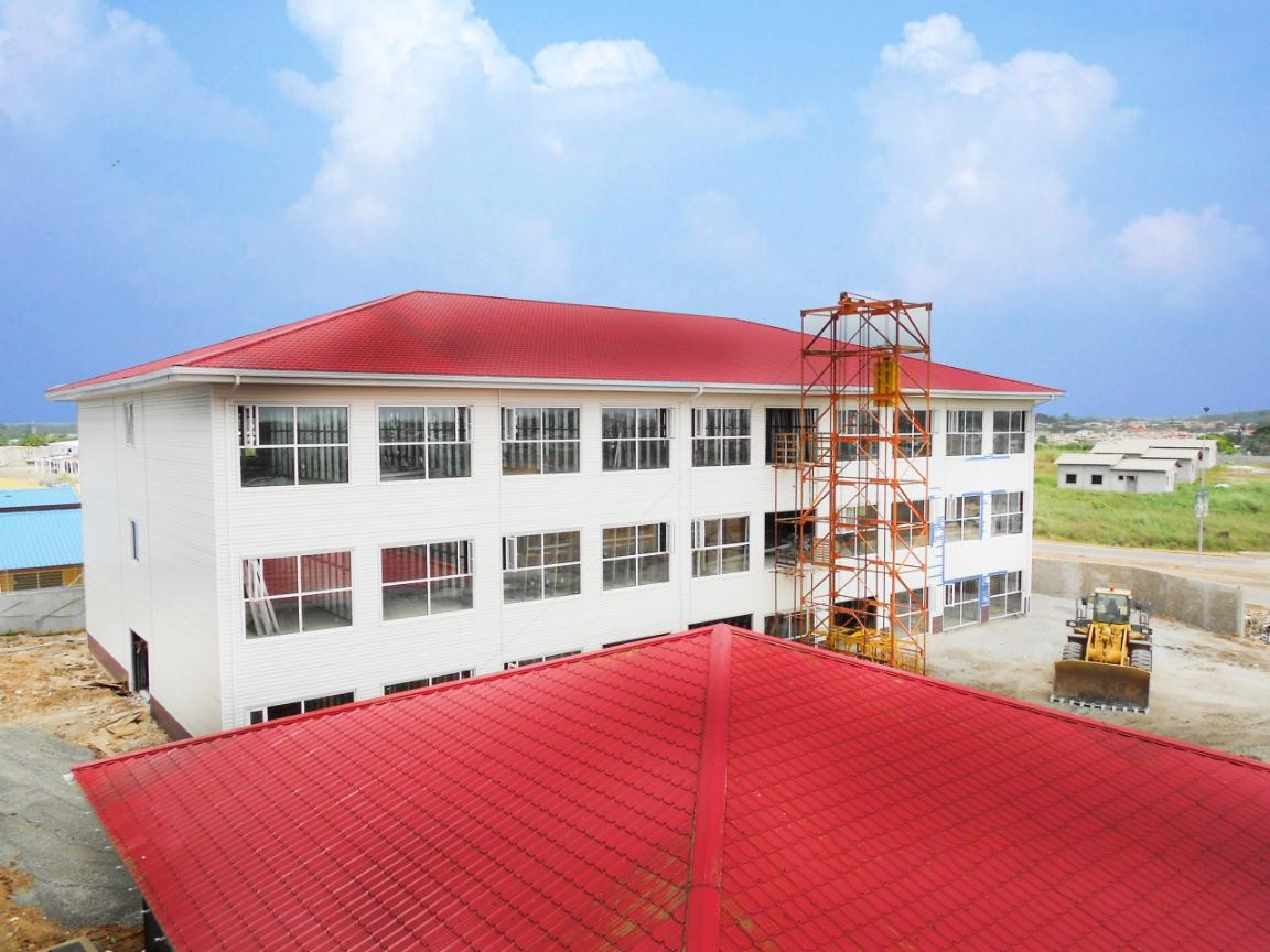 Steel Structure Hotel project in Gabon