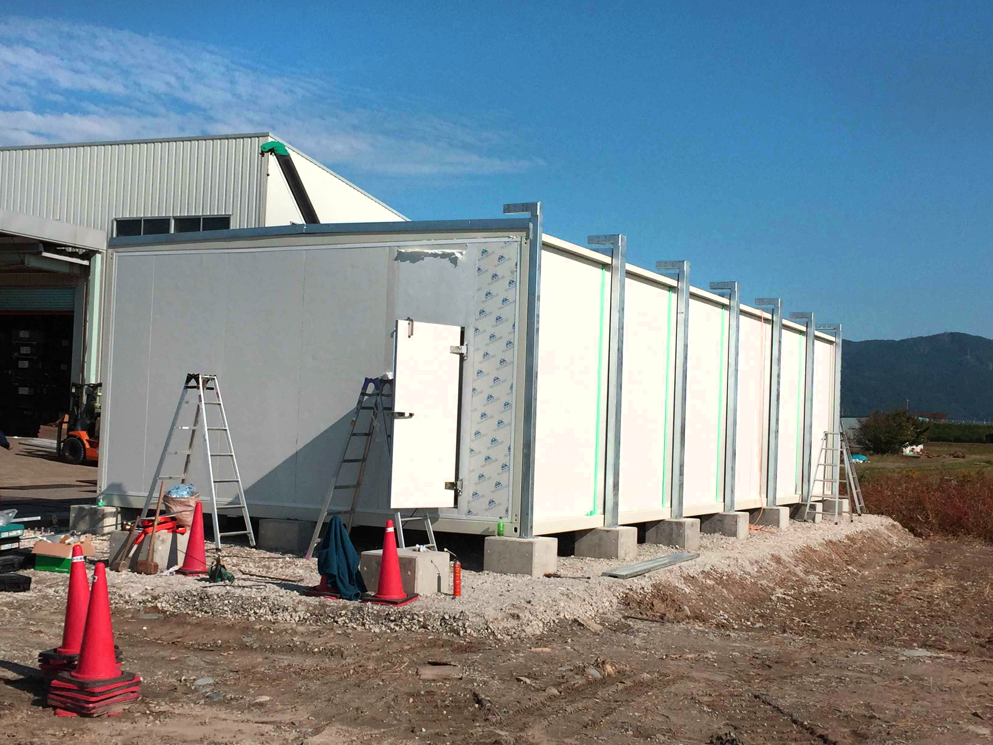 container farming on site installation